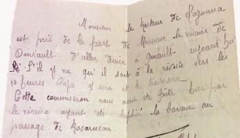 Message d'habitants de Logonna Quimerc'h  Archives Départementales du Finistère