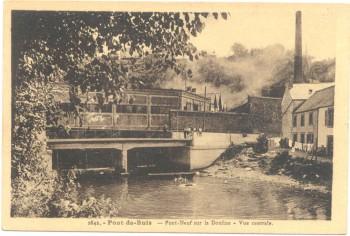 le pont de buis après sa reconstruction vers 1930 Editions Jos Le Doaré, collection particulière