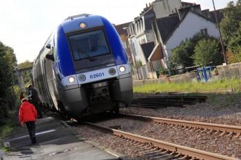 Arrivée du train en gare