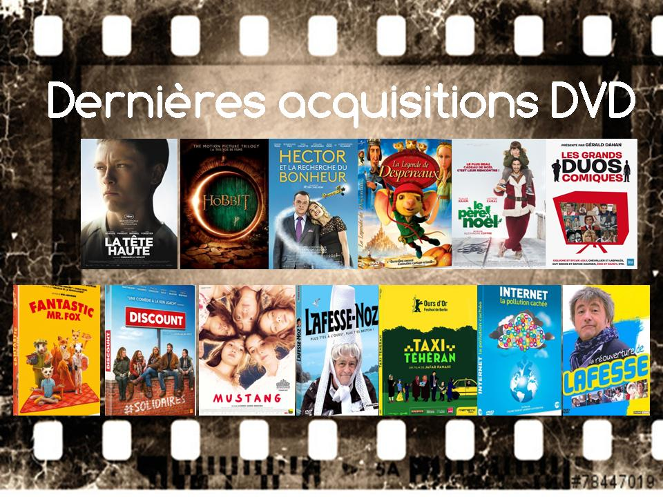 dernieres acquisitions dvd