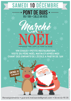marche de noel samedi 10 decembre pont de buis l s quimerc 39 h. Black Bedroom Furniture Sets. Home Design Ideas