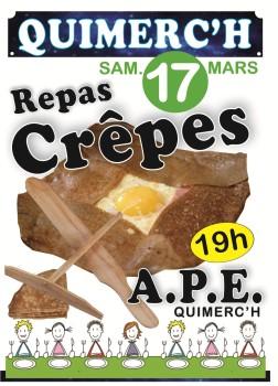 Soirée crêpes APE Quimerc'h - 2018.03.17