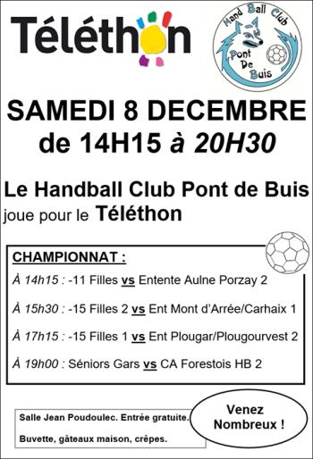 Hand - Téléthon 2018