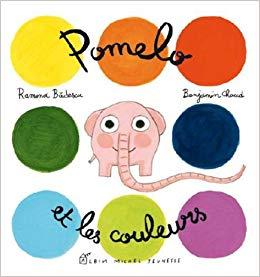 Un petit éléphant rose qui vous apprend tout sur les couleurs