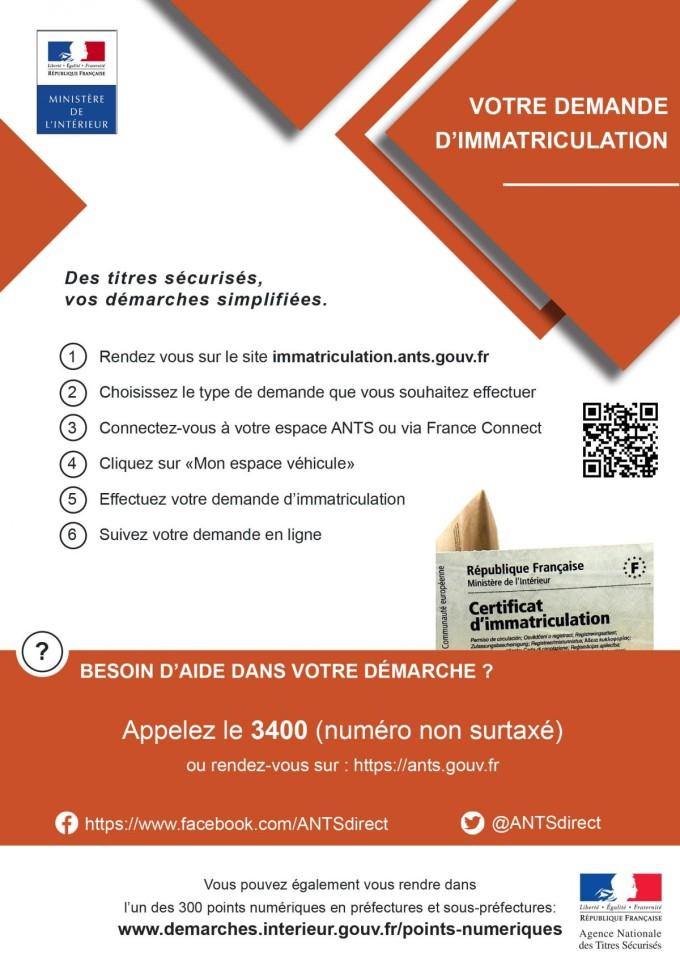 Affiche Certificat d'immatriculation