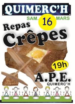 Soirée crêpes APE Quimerc'h - 2019.03.16