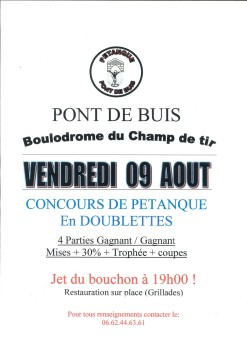 Pétanque - 2019.08.09