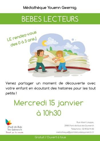 Affiche - Bebes lecteurs - 15-01-2020