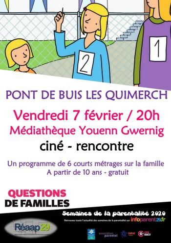 Ciné rencontre questions de familles - 2020.02.07