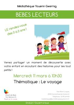 Affiche - Bebes lecteurs - 11-03-2020 - Le voyage