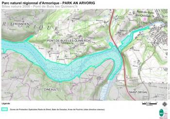 site natura 2000 Rade de Brest, Baie de Daoulas, Anse de Poulmic Carte PNRA