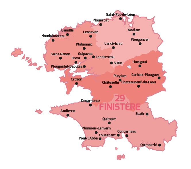 Carte mairies CNI finistère