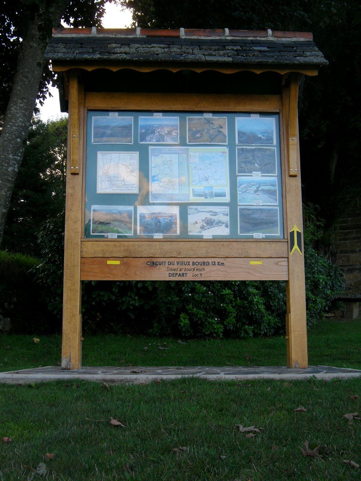Panneau information Vieux Bourg