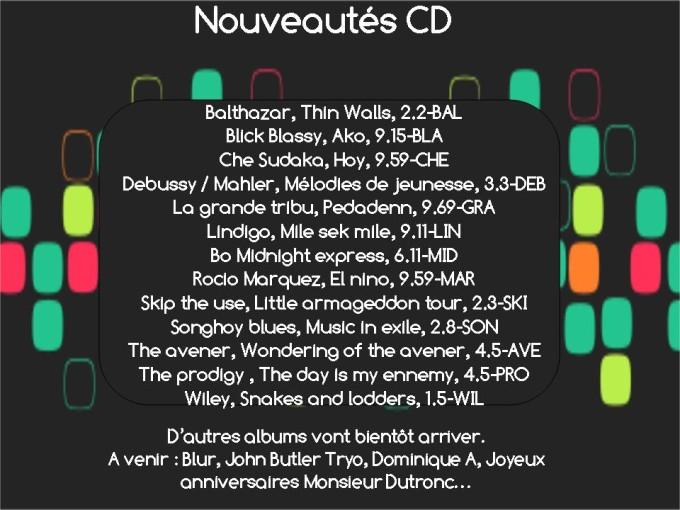 Nouveautés CD