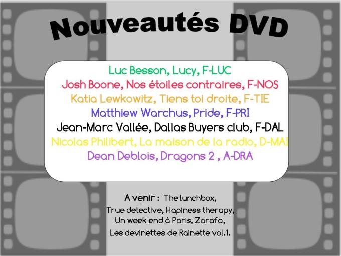 Nouveautés DVD été 2015