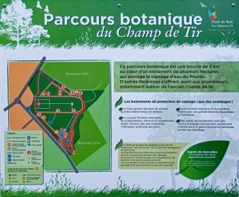 Parcours botanique - panneau