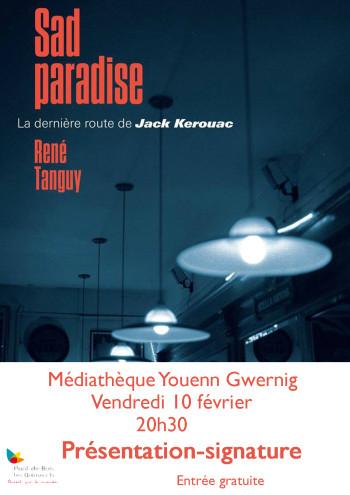 affiche sad paradise médiathèque
