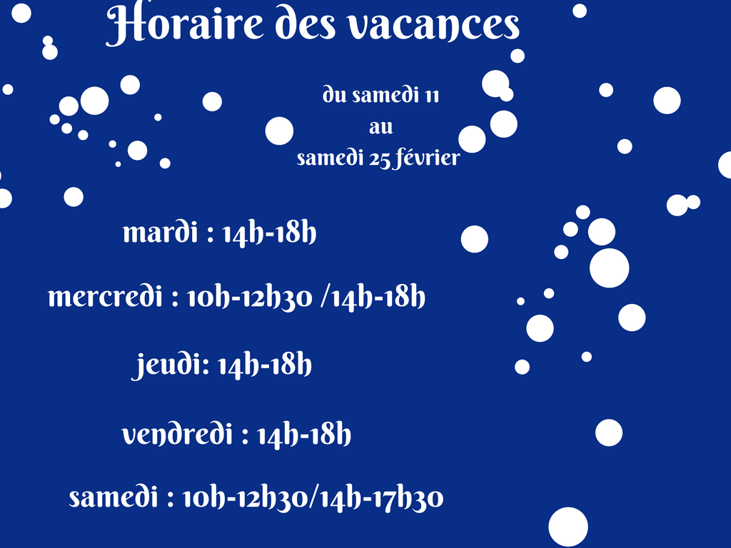 mediatheque horaires vacs