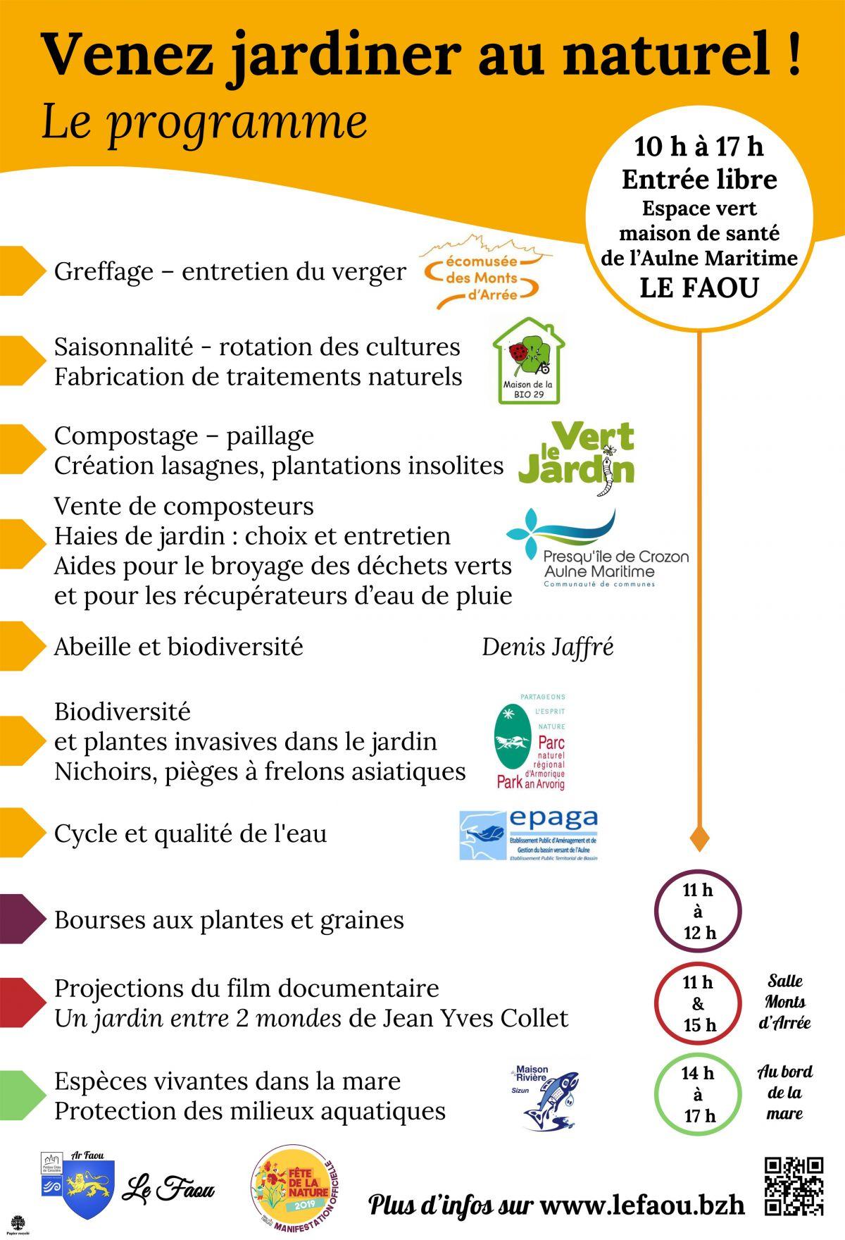 Fête de la nature - Le Faou - 2019.05.25 prgm