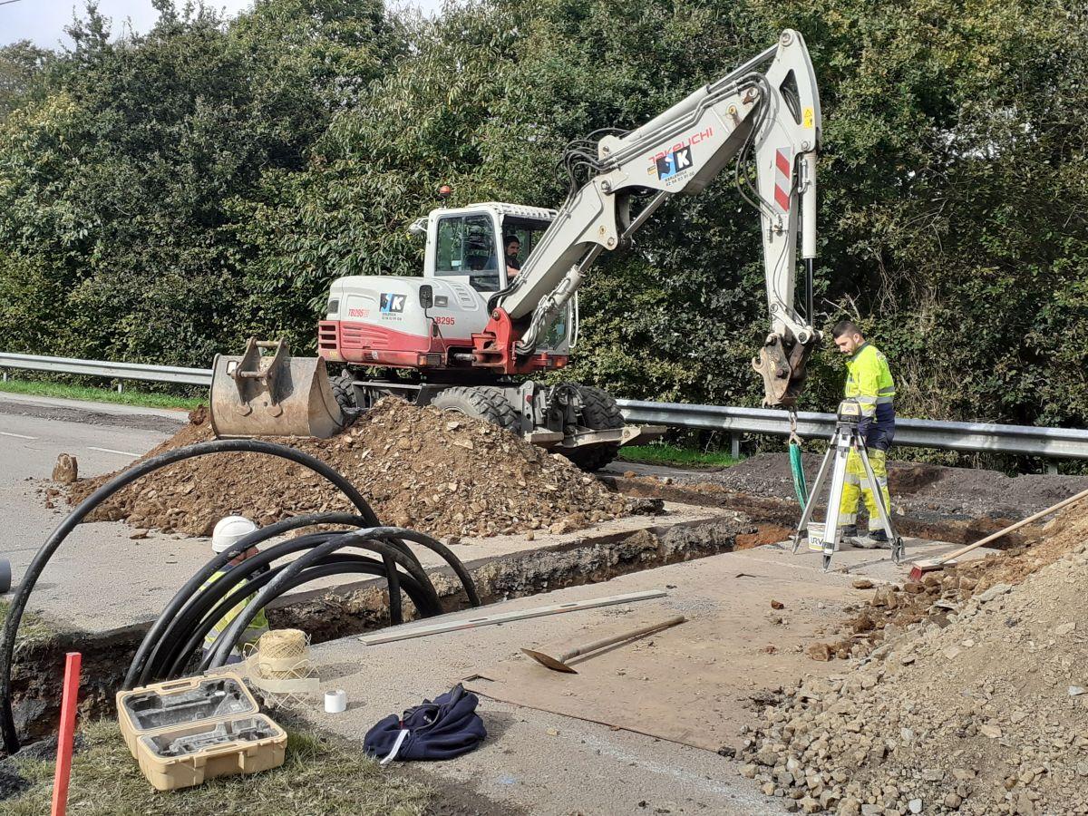 Travaux assainissement RD 770 - Octobre 2019